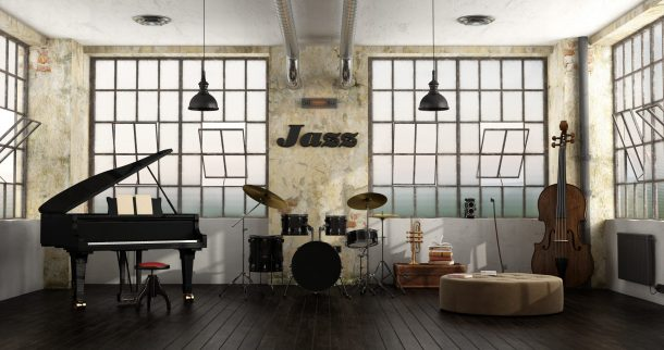 instruments in a loft